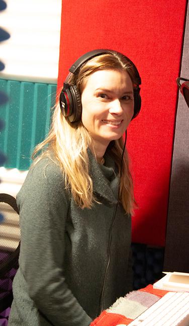 Kristina in her Studio